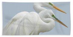 Egrets In Love Bath Towel