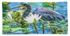 Egretta Tricolor Bath Towel