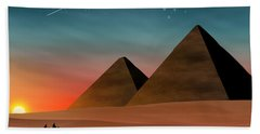 Egyptian Pyramids Bath Towel