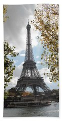 Eiffel From Avenue De New York Hand Towel by Christopher Kirby