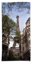 Hand Towel featuring the photograph Eiffel Tower 2b by Andrew Fare