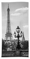 Eiffel Tower And Bridge Alexandre IIi Hand Towel