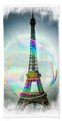 Eiffel Tower Bubble Bath Towel by Lilliana Mendez