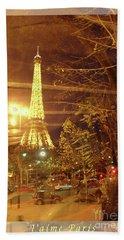 Eiffel Tower By Bus Tour Greeting Card Poster Hand Towel
