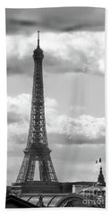 Eiffel Tower From Galeries Lafayette Rooftop Hand Towel