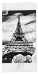 Eiffel Tower In Black And White Design IIi Bath Towel