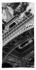 Eiffel Tower Infrared Abstract Hand Towel
