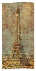 Paris, France - Eiffel Tower Bath Towel