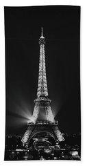 Eiffel Tower Noir Bath Towel by Melanie Alexandra Price
