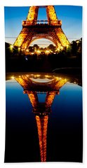 Eiffel Tower Reflection Hand Towel