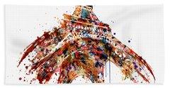 Eiffel Tower Watercolor Hand Towel