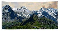 Eiger, Monch And Jungfrau Peaks Bath Towel