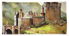 Eilean Donan Castle Bath Towel by Alan Lakin