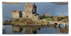 Eilean Donan Castle Reflections Bath Towel
