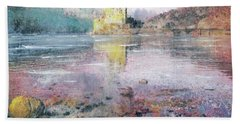 Hand Towel featuring the painting Eilean Donan Castle  by Richard James Digance