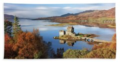 Hand Towel featuring the photograph Eilean Donan In Autumn - Dornie by Grant Glendinning