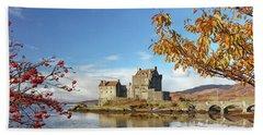 Eilean Donan In Autumn Hand Towel