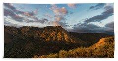 El Cajon Mountain Last Light Hand Towel