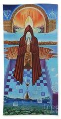 El Camino De La Luz Bath Towel by Jorge L Martinez Camilleri