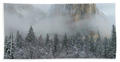 Hand Towel featuring the photograph El Capitan Majesty - Yosemite Np by Sandra Bronstein
