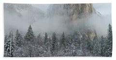 Bath Towel featuring the photograph El Capitan Majesty - Yosemite Np by Sandra Bronstein