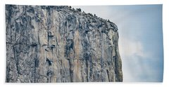 El Capitan Up Close And Personal From Tunnel View Yosemite Np Hand Towel