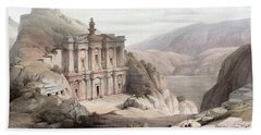 El Deir Petra 1839 Bath Towel