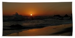 Bath Towel featuring the photograph El Matador Sunset by Ivete Basso Photography