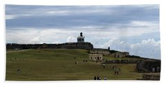 Hand Towel featuring the photograph El Morro by Lois Lepisto