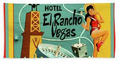 Hand Towel featuring the photograph El Rancho by Jeff Burgess