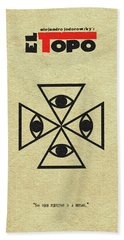 Hand Towel featuring the digital art El Topo by Ayse Deniz