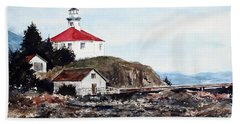 Eldred Rock Lighthouse Bath Towel
