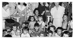 Eleanor Roosevelt And Children Hand Towel