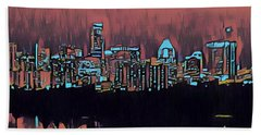 Electric Austin At Dusk Hand Towel