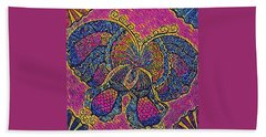 Electric Butterfly 2  Hand Towel by Megan Walsh
