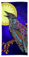 Electric Crow Hand Towel by Tammy Wetzel