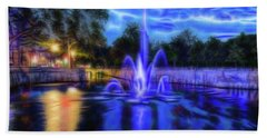 Hand Towel featuring the photograph Electric Fountain  by Scott Carruthers