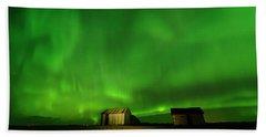 Electric Green Skies Bath Towel
