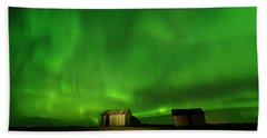 Electric Green Skies Hand Towel