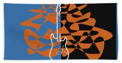 Electric Guitar In Blue Hand Towel by David Bridburg