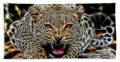 Electric Leopard Wall Art Collection Hand Towel