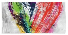 Electric Love- Expressionist Art By Linda Woods Bath Towel