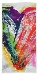 Electric Love- Expressionist Art By Linda Woods Hand Towel