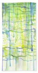 Electric Rain Watercolor Hand Towel