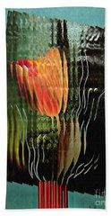 Electric Tulip 2 Bath Towel by Sarah Loft