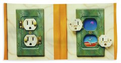 Electric View Miniature Shown Closed And Open Bath Towel