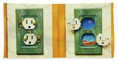 Electric View Miniature Shown Closed And Open Hand Towel