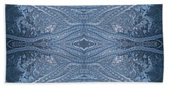 Elegant Blues Frosty Window Design Hand Towel by Joy Nichols