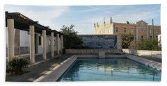Elegant Lisbon - Miradouro De Santa Luzia Long Shadows And Reflections Bath Towel