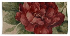 Bath Towel featuring the mixed media Elegant Rose by Writermore Arts